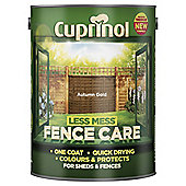Cuprinol Less Mess Shed & Fence Care, Autumn Gold, 5L