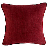 Textured Plain Cushion 43 x 43, Red