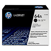 HP 64A Laserjet Print Cartridge with Smart Printing Technology - Black