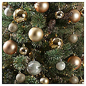 Christmas Baubles, Gold, 94 pack