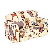 Just 4 Kidz Kids Loose Cover Sofa - Roar Natural