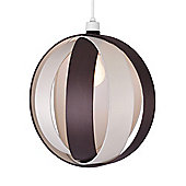 Globe Ceiling Pendant Light Shade in Cream & Brown