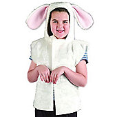 Rabbit Fur Tabard - Child Costume 4-8 years