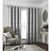 Catherine Lansfield Les sites de Paris Curtains 66x72 - Silver