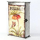 Key Box with Foliage Design