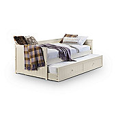 Jessica Stone White Wooden 3FT Single Daybed & Underbed Guest Bed