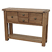 Furniture Link Danube Large Console Table in Weathered Oak