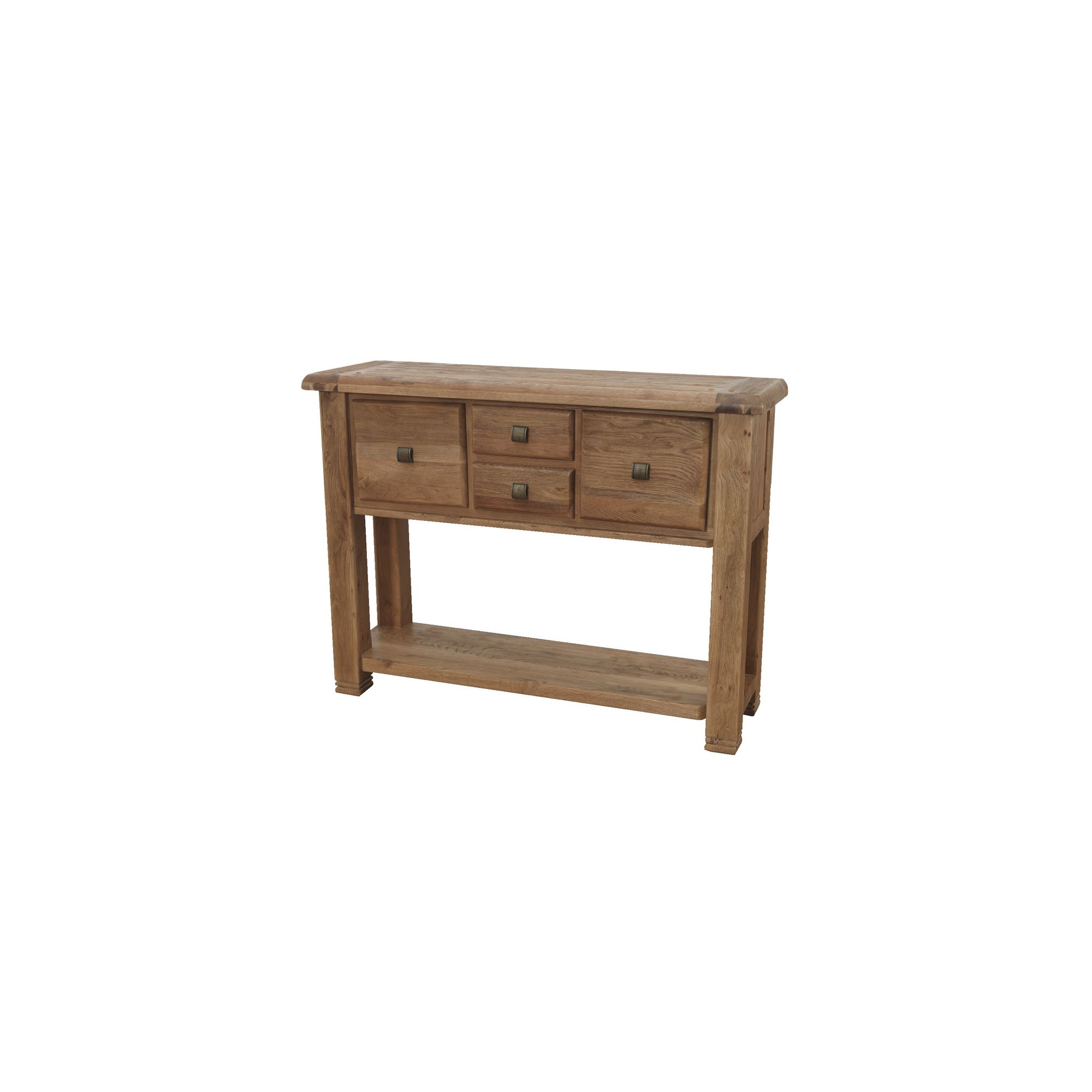 Furniture Link Danube Large Console Table in Weathered Oak at Tesco Direct