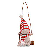 Character Snowman on Swing Christmas Tree Decoration - Sitting Design