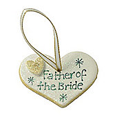 Father of the Bride Gold Sparkle Heart