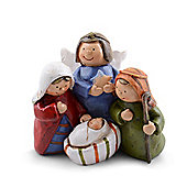 Colourful Nativity Themed Christmas Ornament Design B