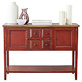 Safavieh Archer Sideboard - Wine with Weathered Top