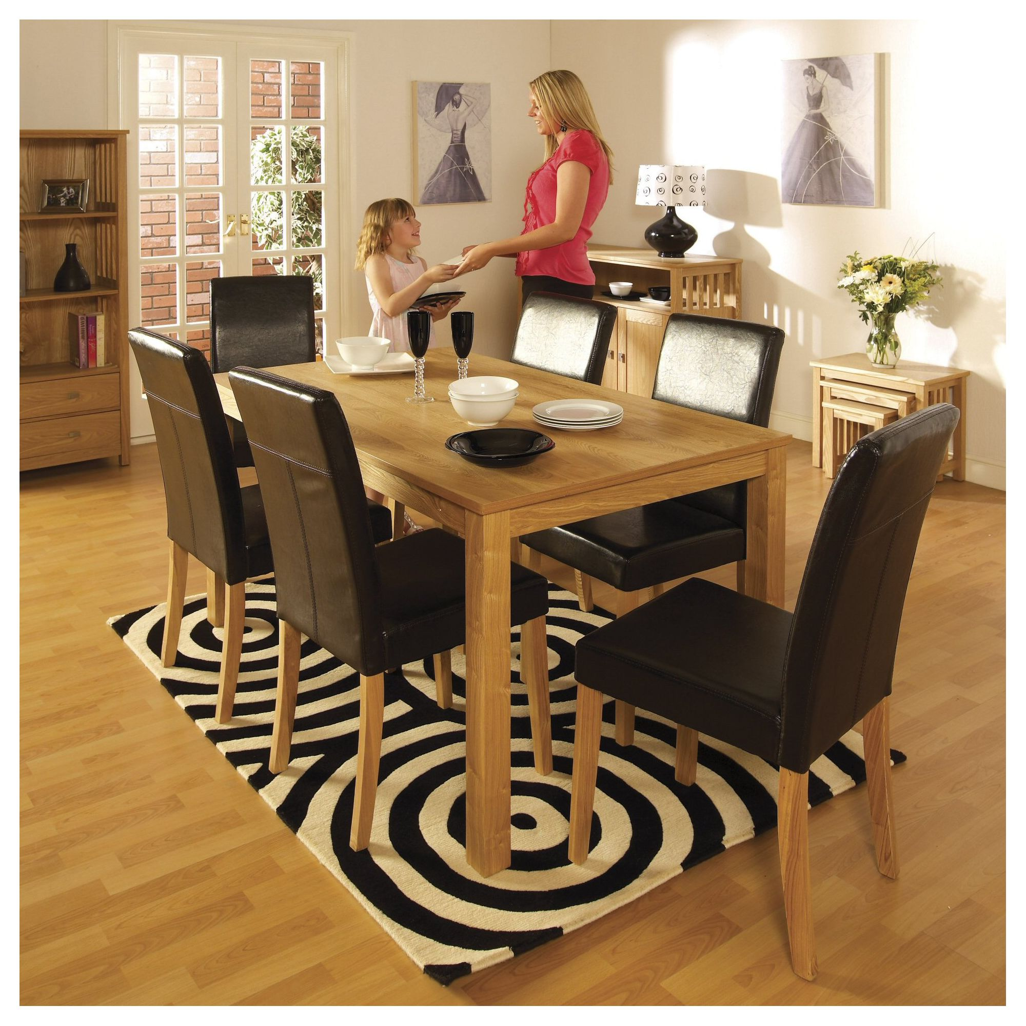 Home Essence Jutland 7 Piece Dining Set at Tesco Direct