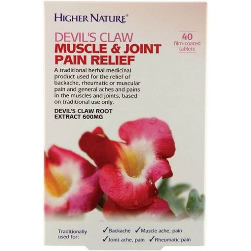 Higher Nature Devil's Claw Muscle & Joint pain relief 40 Tablets