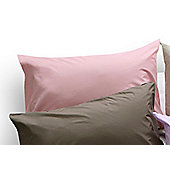 Belledorm Brushed Cotton Pillowcase (Set of 2) - Pink