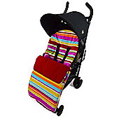 Fleece Footmuff To Fit Quinny Candy Stripe Red
