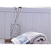 Catherine Lansfield Home Cosy Corner Swing Check Border 450gsm Bath Sheet Cream & Grey