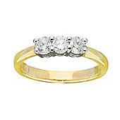 9ct Gold 0.5 Carat Three Stone Diamond Ring