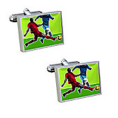 Sub Text Footy Tackle Cufflinks By WD London