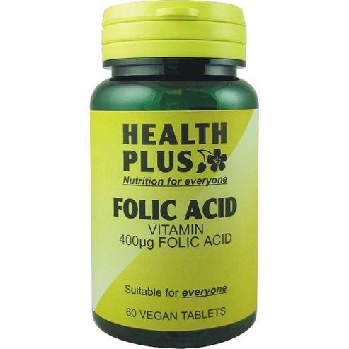 Health Plus Folic 400ugVegan 60 Veg Tablets