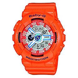Casio Baby-G Ladies Orange World Time Stopwatch Watch BA-110SN-4AER