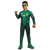 Rubies Fancy Dress Costume - DELUXE Green Lantern - Hal Jordan - Child LARGE