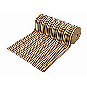 Dandy Ios Brown Contemporary Rug - 67cm x 100cm