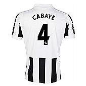 2013-14 Newcastle Home Shirt (Cabaye 4) - White