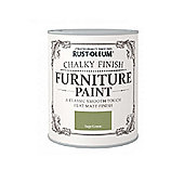 Rust-Oleum Chalky Furniture Paint - Sage Green - 750ML