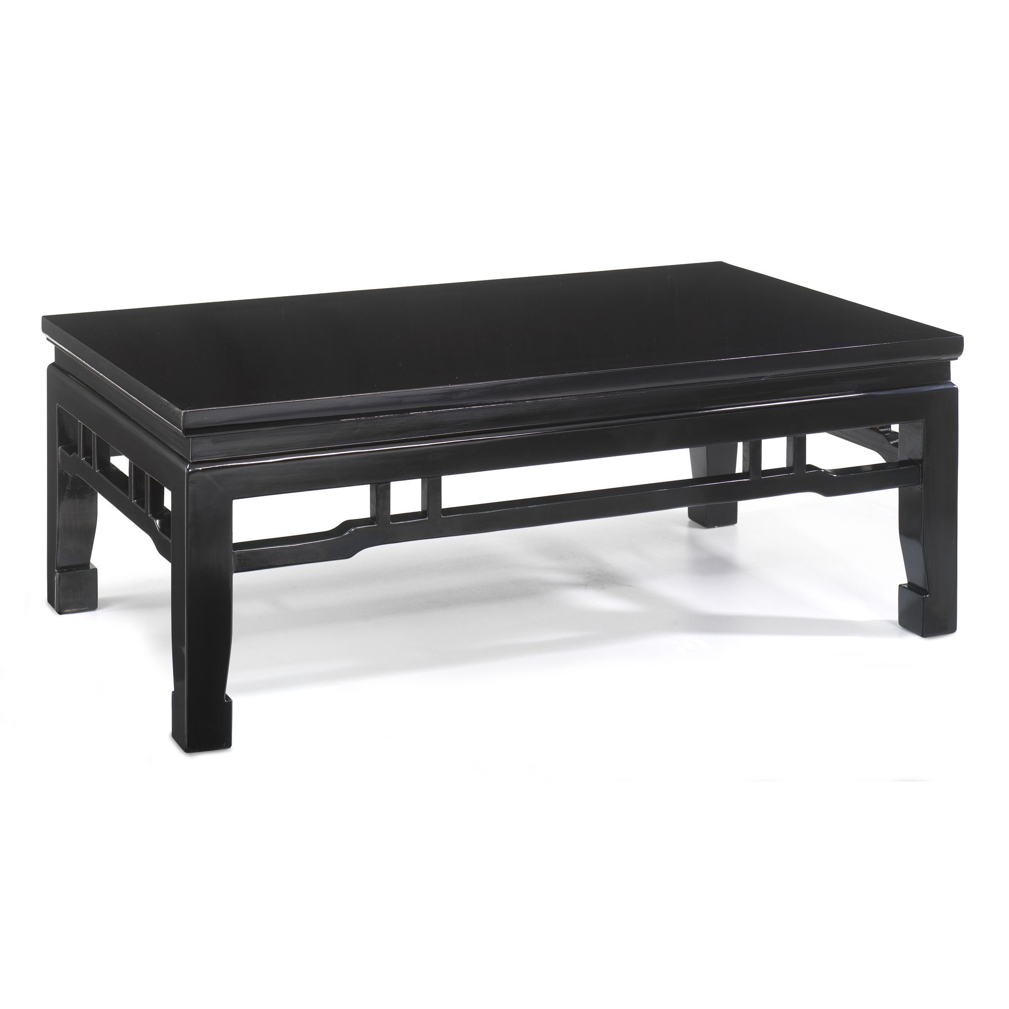 Shimu Chinese Classical Kang Style Coffee Table - Black Lacquer at Tesco Direct
