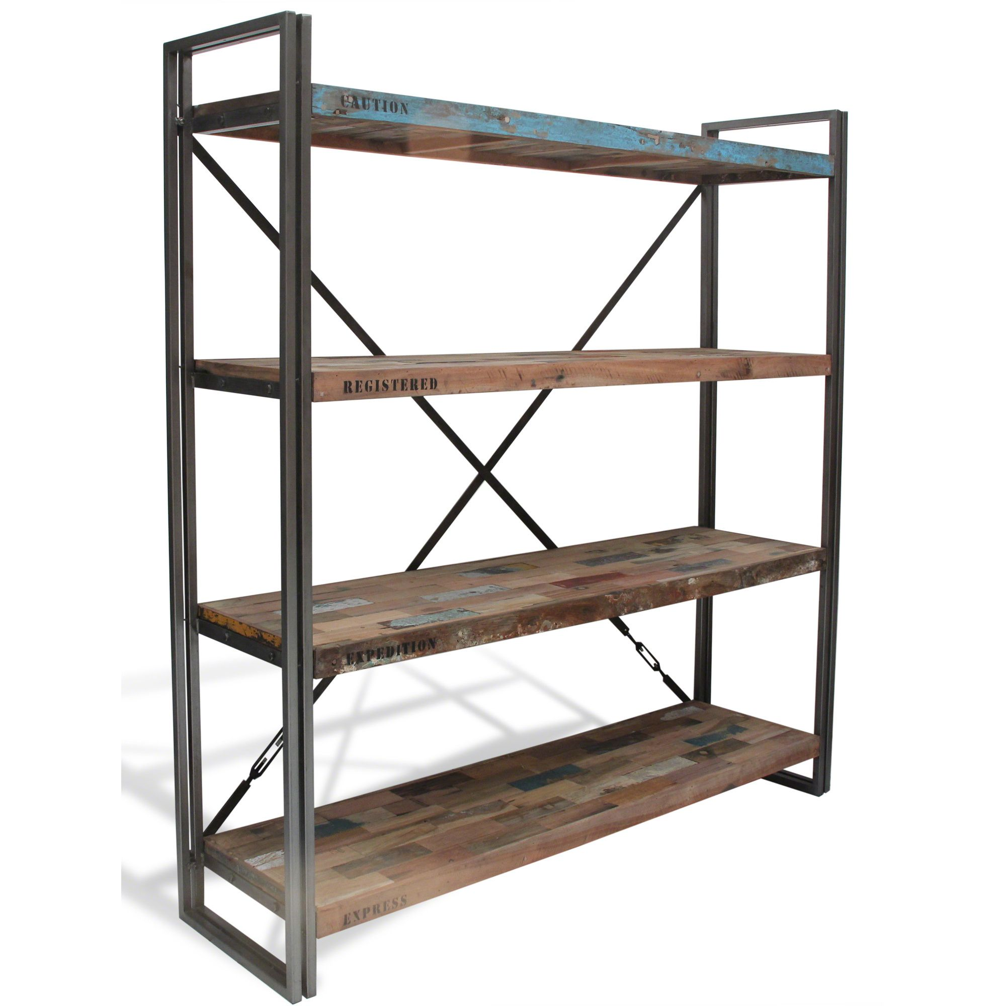 Oceans Apart Recycled Boat Bookcase at Tesco Direct