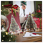 Traditional 3D Tree Luxury Christmas Cards, 6 pack