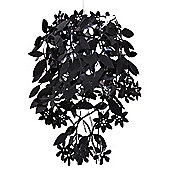 Leaves & Flowers Ceiling Pendant Light Shade in Black