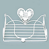 Heart - Home Sweet Home Metal Napkin Holder - Cream