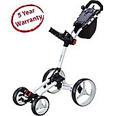 Big Max Mens Wheeler 4 Wheel Golf Trolley in White Frame