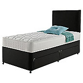 Rest Assured Classic Non Storage Single Divan and Headboard Charcoal