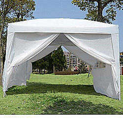 Outsunny 3mx3m Pop Up Gazebo Party Tent Canopy White