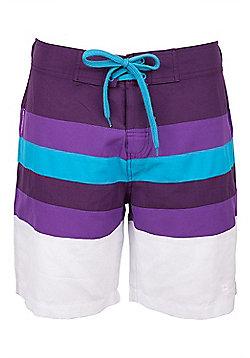 Stripe Women's Boardshorts - Purple