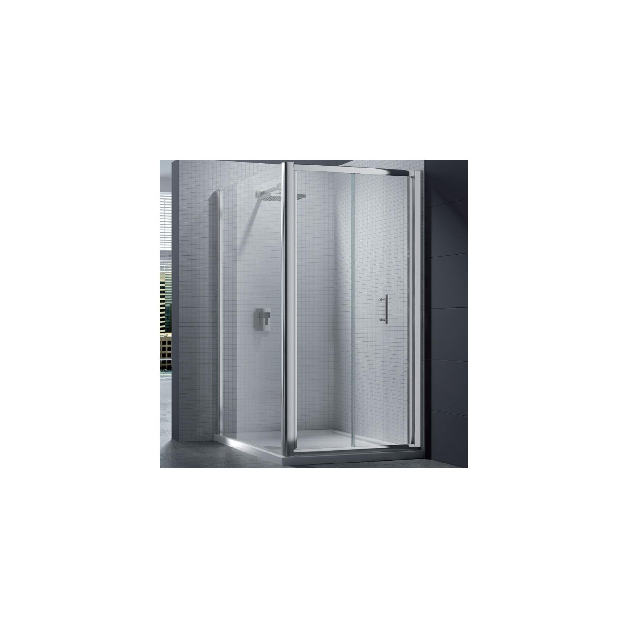 Merlyn Series 6 Bi-Fold Shower Door, 900mm Wide, Chrome Frame, 6mm Glass at Tesco Direct