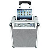 ION BLOCK ROCKER BLUETOOTH/FM/AM PORTABLE SPEAKER SYSTEM WITH iPOD/iPAD/iPHONE DOCK (WHITE)