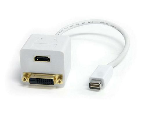 StarTech 0.3m Mini DVI to DVI-D & HDMI Splitter Cable