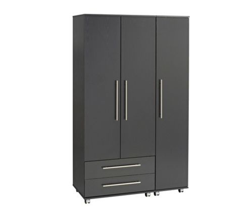 Ideal Furniture Bobby 3 Door Wardrobe - Oak