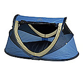 NSAuk Deluxe Pop Up Travel Cot Large Blue 0-4 Years