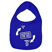 Dirty Fingers Instructions for use Baby Bib Royal Blue
