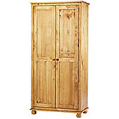 Antique Dorset Solid Pine Double Wardrobe