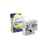 Dymo S0720920 D1 Standard Tape (24mm x 7m) - Black on Transparent