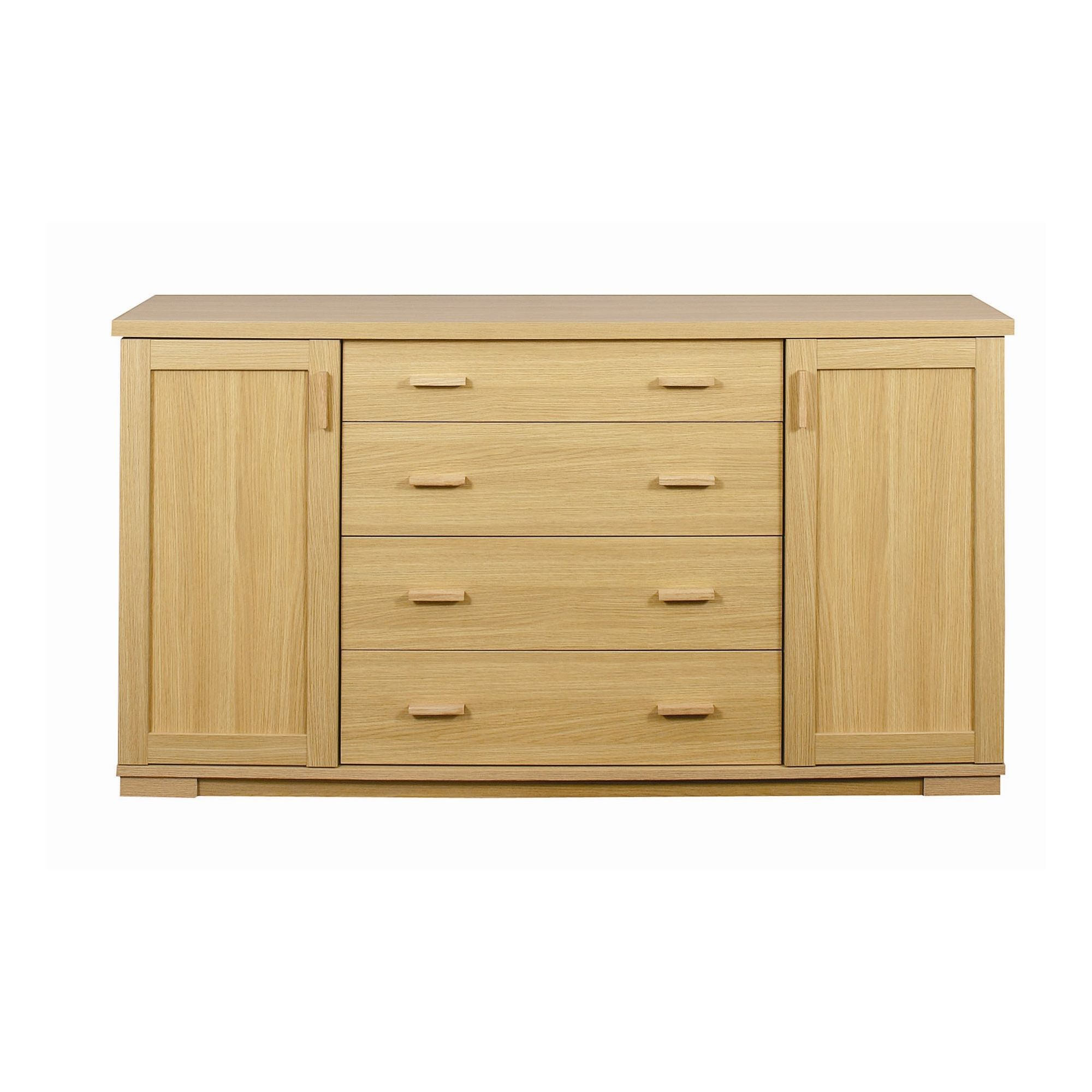 Caxton Huxley 2 Door / 4 Drawer Sideboard in Light Oak at Tesco Direct