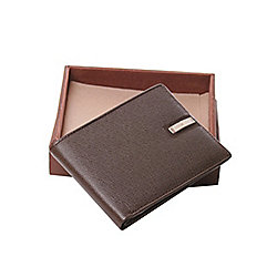 Jos Von Arx Milan Mens Genuine Brown Italian Leather Wallet IL02