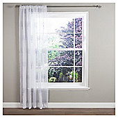 "Ceder Voile Slot Top Curtains W137xL122cm (54x48""), Grey"