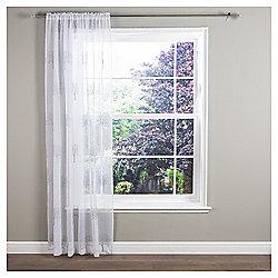 "Ceder Voile Slot Top Curtain W137xL122cm (54x48"") - Grey"